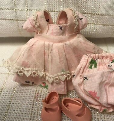 Vintage Doll CLOTHES -DRESS (tags) Vogue Ginny, Tiny Miss #6039