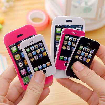 iPhone Shaped Rubber Pencil Eraser Fun Gift Toy Students Creative Stationery Lot