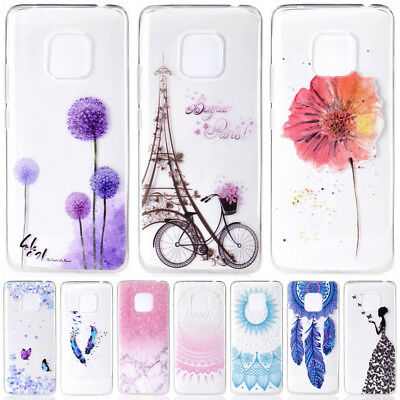 For Huawei Mate 20 Pro 10 9 Lite Painted Clear Slim Soft Silicone TPU Case Cover