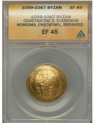 Byzantine Empire Constantine X ANACS XF45 Ancient Gold Coin