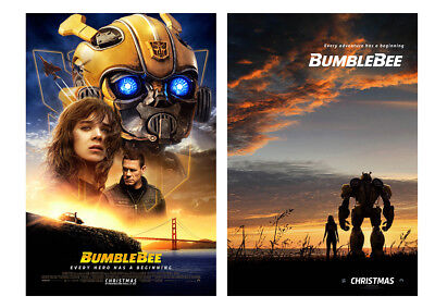 BumbleBee Movie Poster Travis Knight 2018 Transformers Film Print 17x25 24x35in