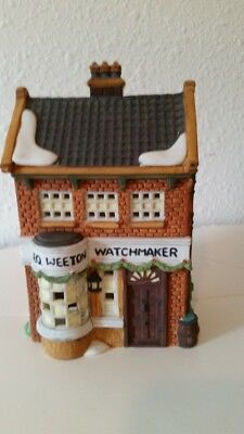Dept 56 Dickens Village George Weeton Watchmaker Lighted House Mib #59269