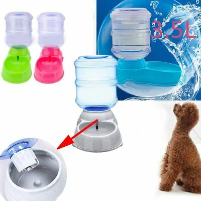 Fountain Bottle Pet Water Drinker Food Dispenser Cat Bowl Dog Automatic Feeder