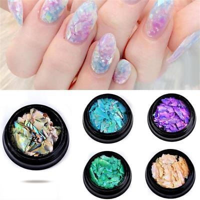 Manicure Crushed Natural Seashell Slices Nail Art Decor Colorful Pearl Light