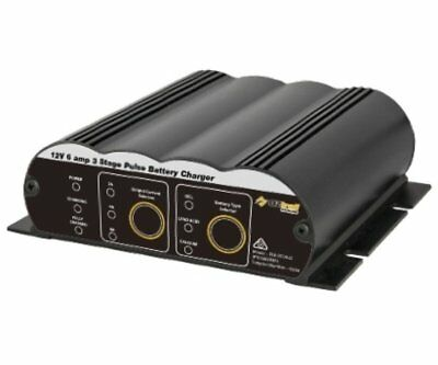 Oztrail 12V 6 amp 3 stage pulse battery charger