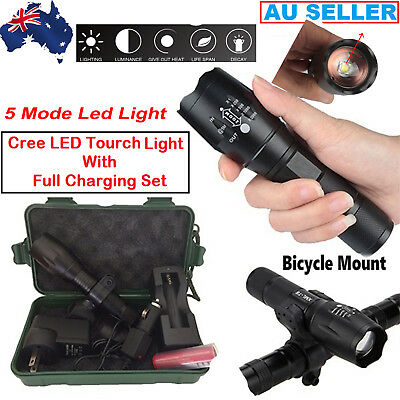 LED Torch Genuine 20000lm X800 Tactical L2 CREE Military Flashlight With Set Box