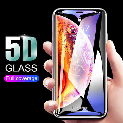For iPhone X XS Max XR 7 8 6S Plus Full Coverage Tempered Glass Screen Protector