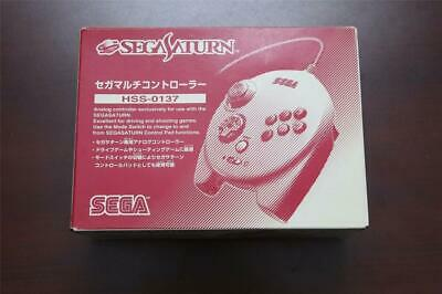 Sega Saturn SS Official White 3D Controller Multi Pad boxed Very good US Seller
