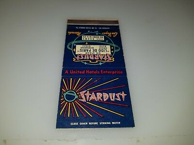 Vintage Matchbook Cover From Stardust Hotel And Casino Las Vegas Nv  Lot #1
