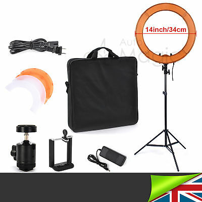 42W 34cm LED Studio Ring Light +Stand Beauty Selfie Video Photo Online Broadcast