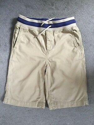 GAP BEIGE COTTON LONG SHORTS WITH THICK ELASTIC WAISTBAND WITH BLUE- AGE 10-11y