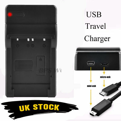 Battery Charger For Nikon EN-EL14 Coolpix D3100 D3200 D5100 D5200 P7000 P7700 UK
