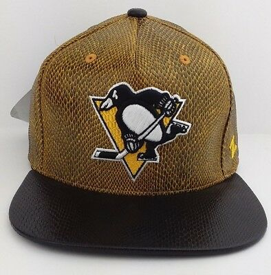 Pittsburgh Penguins NHL Zephyr snap-back/cap/hat/Snake skin print