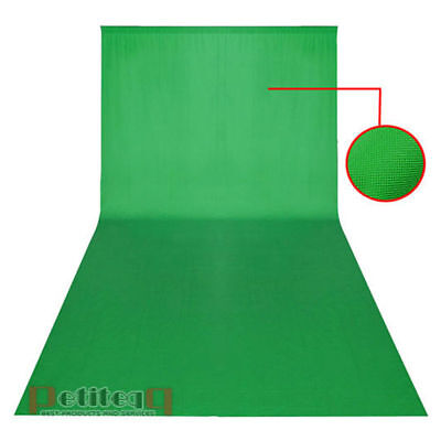 6m x 3m Green Screen Backdrop Background Photography Chromakey Sheet for Stand
