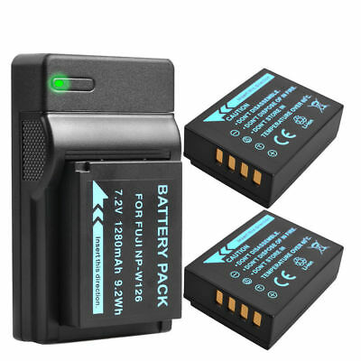 2X NP-W126 Battery + USB Charger for Fuji HS 30 33 35 50 X-A1 E1 E2 UK Local
