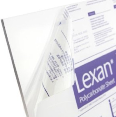 "3/8"" (0.375"") Clear Polycarbonate Lexan Sheet 24"" x 12"" AZM Clearance"