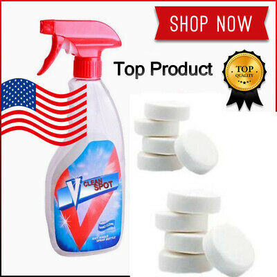 10x V Clean Spot Multifunctional Effervescent Spray Cleaner Cleaning Kit+ Bottle