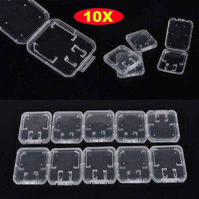 Clear Holder Standard Memory Card Case Storage Box Transparent SD/TF SDHC Card