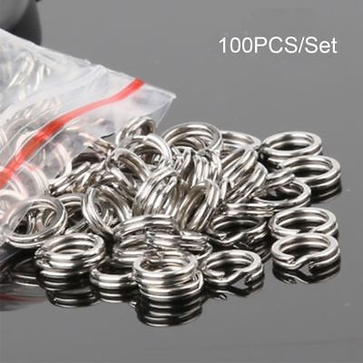 High Quality Fish Connector Swivel Snap Stainless Steel Fishing Split Rings