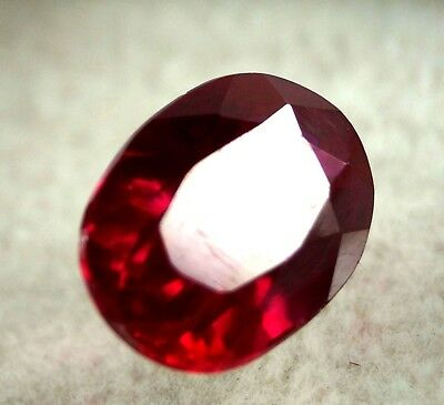 GGL Certified Natural 7.60 Ct Oval Cut Red Ruby Mozambique Gem New Year Offer