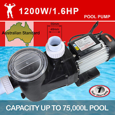 TDKMAN 1200W Swimming Pool Pump Spa Water Electric Self Priming Flow 27600L/H