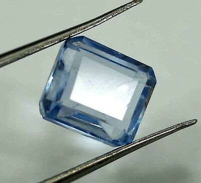 GGL Certified 5.00 Ct Emerald Natural Blue Aquamarine Transparent Untreated Gem