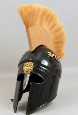 Greek Spartan Corinthian Helmet W/ Plume Armor Medieval Knight Spartan Movie