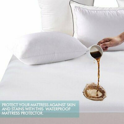 Ultra Soft Terry Mattress Cover Waterproof Hypoallergenic Bed Pad Protector