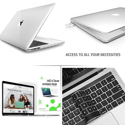 """For 2018 Newest Macbook Air Pro 13""""15"""" Smooth Clear Case LCD Film Keyboard Cover"""