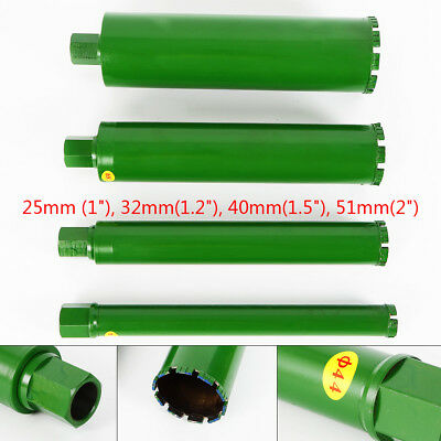 "Wet Diamond Core Drill Bit for Concrete - Premium Green Series 1"",1.2"",1.5"", 2"""