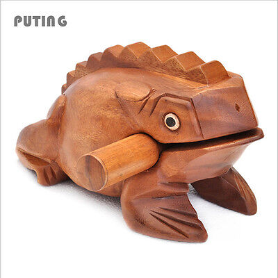 Wooden Lucky for Frogs Thailand Traditional Craft Home Office Decoration Art