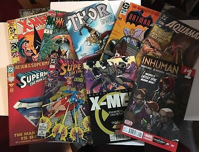 Comic Book Lot Vintage & Modern Lot Of 50 Superhero Marvel & DC Comic Books