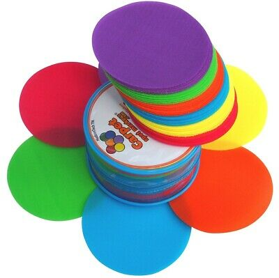 Carpet Spots Classroom Velcro Markers, Sit Dot Position Circles for Kids 30Pack