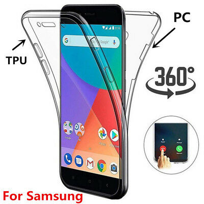 For Galaxy Note 9 S10 Plus Slim Full Body Rugged Case Built in Screen Protector