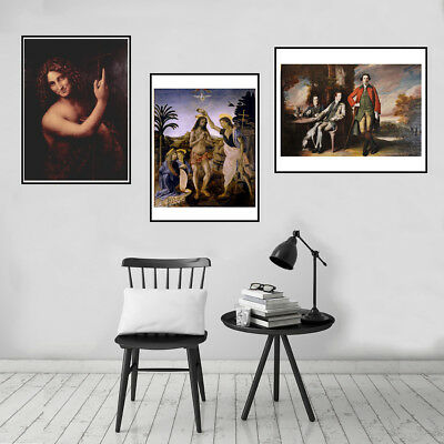 Da Vinci Art Paintings Canvas Poster Prints Picture Living Room Wall Home Decor