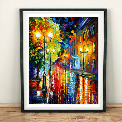 Western Street Scene Oil Painting Canvas Poster Prints Picture Living Room Home