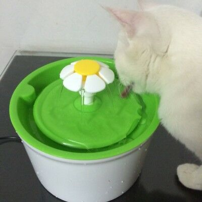 AU Flower Style 1.6L Automatic Electric Pet Water Fountain Dog Cat Drinking Bowl