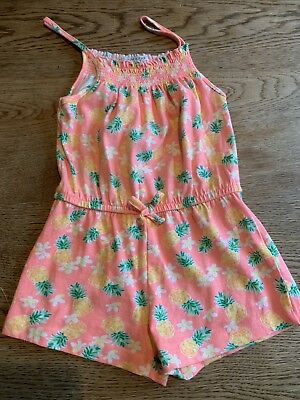Girls 4-5 Years Pineapple Elasticsted Playsuit