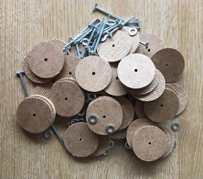 35mm Teddy Bear Cotter Pin Joints (hardboard) x 25 pins & 50 disks (for 5 bears)