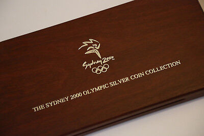 Jarrah Case for Sydney 2000 Olympics Set & Festival of Dreaming 1oz Silver Coin