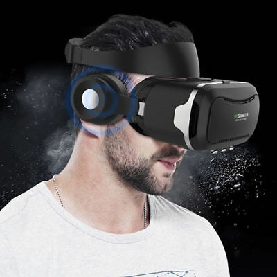 3D VR BOX Bluetooth High Reality Goggles Virtual Glasses Headset Remote Gamepad