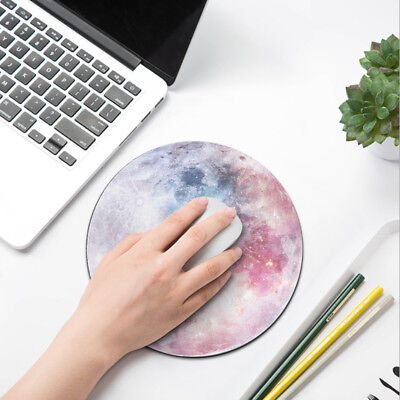 Home Office Soft Small Round Non-Skid Rubber Smooth Mouse Pad Mice Mat Gift AU