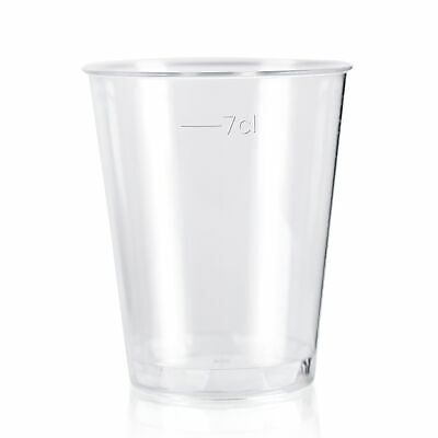 Plastic Shot glasses 8cl - pack of 50 - disposable