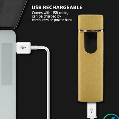 USB Electric Touch Flameless Lighter Torch Rechargeable Windproof Christmas Gift