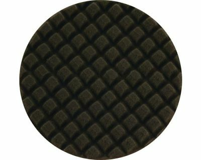"1 x Waffle / Cross Cut Black Soft Foam Buffing Pad (6"") 150mm x 30mm - UK Seller"