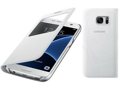 Genuine Samsung S VIEW FLIP CASE Galaxy S7 g930 mobile cell phone cover original