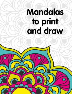DIGITAL BOOK Mandala Colouring Adult Relax PDF Book/40 AWESOME coloring pictures