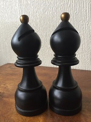 French 'Tre Spade' Chess Bishop Condiment Mill Grinders