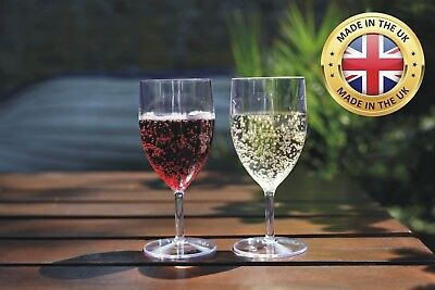 Plastic Wine Glass 250ml - Re-Usable CE marked - Pack of 10