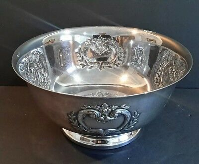 "Antique Webster Wilcox Silverplate Punch Center Piece Bowl  12"" x 6"" # 336 / 12C"